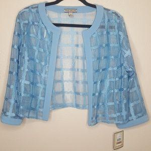 Maya Brooke 12 Jacket Top Tee Shirt Sheer Mesh